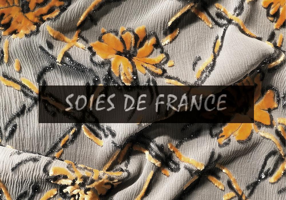 VELOURS DE LYON - SOIES DE FRANCE - Velours jacquards, unis, froissés, gaufrés, peints main - LYON