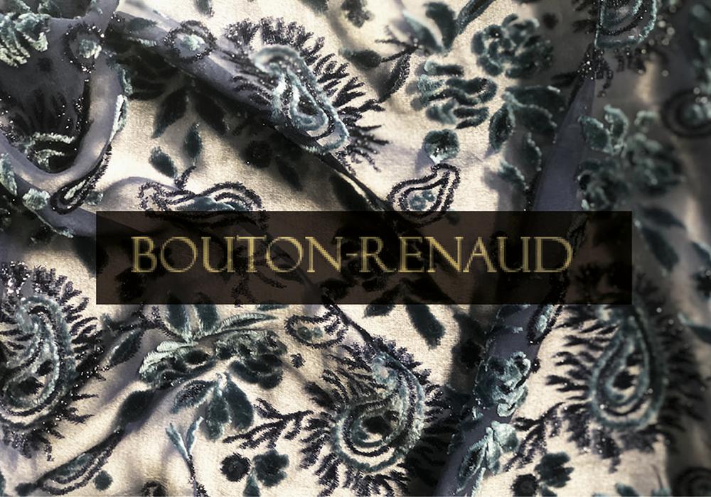 VELOURS DE LYON - BOUTON RENAUD - Velours jacquards, unis, froissés, gaufrés, peints main - LYON