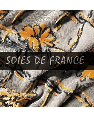 VELOURS DE LYON - Velours jacquards, unis, froissés, gaufrés, peints main - VELOURS BLAFO - BOUTON RENAUD - SOIES DE FRANCE - LYON